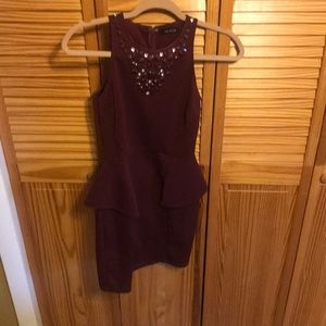 Pleplum Burgundy Dress